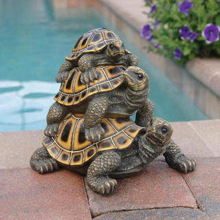 Three's a crowd stacked Turtles