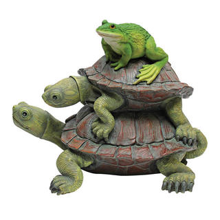 In good company, Frog and Turtles statue