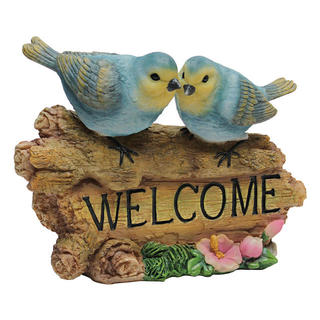 Blue Bird Welcome Sign