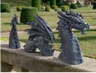The Dragon of Falkenburg Castle Moat Garden statue