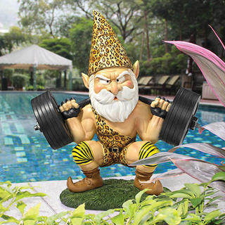 Atlas the Weightlifting Gnome statue