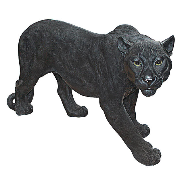 Shadowed Predator Black Panther Statue: Large