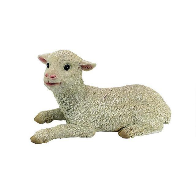 Aries Sitting Lamb statue