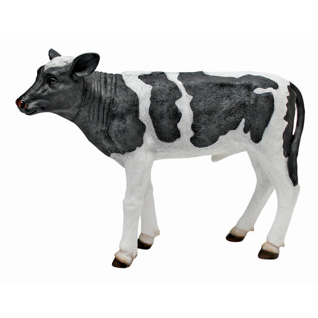Country Boy Cow statue