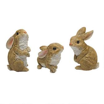 Baby Bunny statues (set of 3)