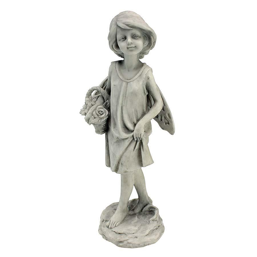 Rose Garden Fairy with Basket Statue